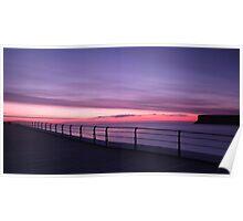 Saltburn Pier, Sunrise Poster