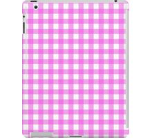 Checkered Gingham Pattern - Pink White iPad Case/Skin