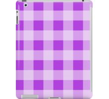 Checkered Gingham Pattern (Check Pattern) - Purple iPad Case/Skin