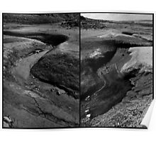 Rith Amach a river bends diptych Poster