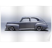 1947 Ford 'Rod and Custom' Sedan 4 Poster