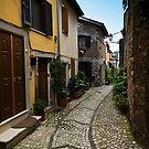 A Street in Gavigano Italy by Warren. A. Williams
