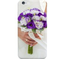 Purple wedding bouquet iPhone Case/Skin