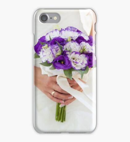 Purple wedding bouquet iPhone Case/Skin