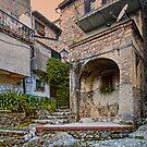 Corner Scene in Gavigano Italy by Warren. A. Williams