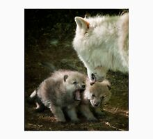 Arctic Wolf With Pup Unisex T-Shirt
