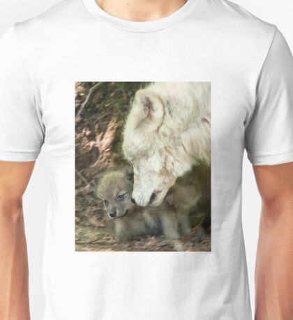 Arctic Wolf And Pups Unisex T-Shirt