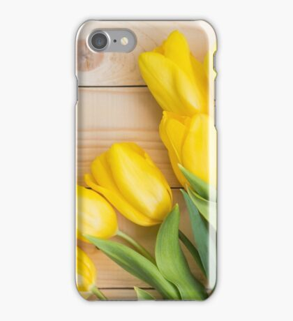 Beautiful yellow tulips  iPhone Case/Skin