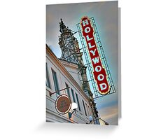 Hollywood Theater Neon Sign, Portland, OR Greeting Card