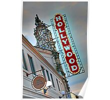 Hollywood Theater Neon Sign, Portland, OR Poster