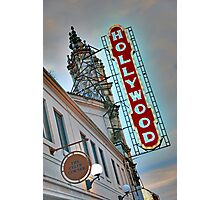 Hollywood Theater Neon Sign, Portland, OR Photographic Print