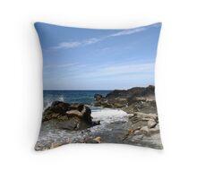 Shoreline at Glen Maye, Isle Of Man Throw Pillow
