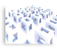 Cubes of the Fluorescent Expanse Canvas Print