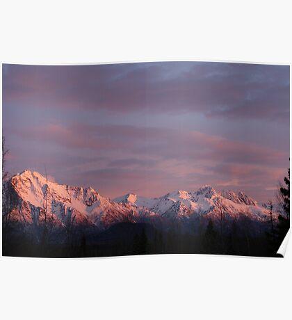Sunset's Alpenglow Poster