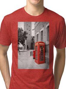 Red Telephone & Post Box Tri-blend T-Shirt