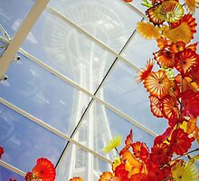Seattle Space Needle inside Chihuly Museum Seattle by Jonicool