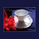 Demitasse, White by Ginny Schmidt