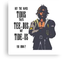 Final Fantasy X Tee-Dus Not Tide-US Canvas Print