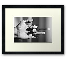 Cut my nails Framed Print