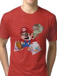 Mushed Mario Tri-blend T-Shirt
