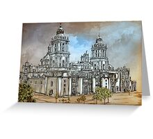 Mexico City Metropolitan Cathedral. Greeting Card
