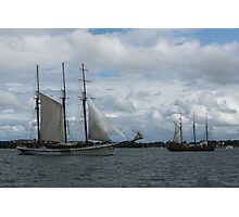 Tall Ships Sailing in the Harbor Photographic Print