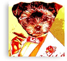 Puppy with Cigar Canvas Print