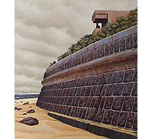 Sea-wall (study), Oil on Linen, 45x40.5cm. Photographic Print