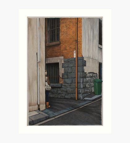 Secret Meeting III, Pencil, 69x48cm. Art Print