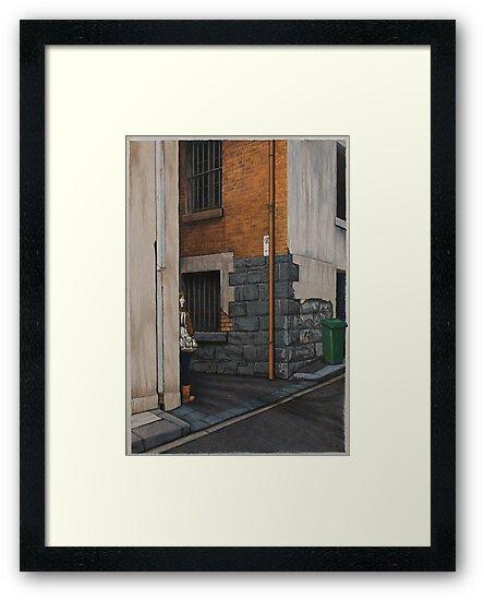 Secret Meeting III, Pencil, 69x48cm. by Jason Moad