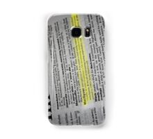 the verb is to macgyver Samsung Galaxy Case/Skin