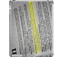 the verb is to macgyver iPad Case/Skin