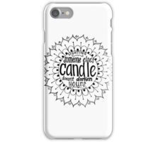 Light someone's candle zentangle medallion iPhone Case/Skin
