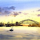 Sydney Harbour Sunset by Joe Cartwright