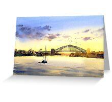 Sydney Harbour Sunset Greeting Card