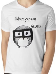 Geekuin Mens V-Neck T-Shirt
