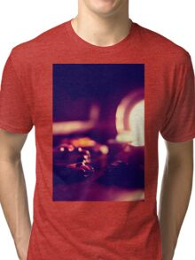 are they small or is the desk really humungous Tri-blend T-Shirt