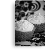 Black and White Cupcakes Canvas Print
