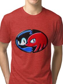 Sonic and Knuckles  Tri-blend T-Shirt