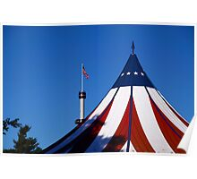 Red, White and Blue-Hershey Park, PA Poster