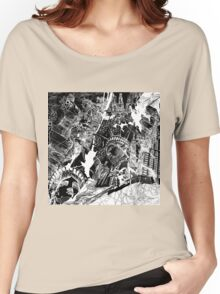 New York  map 1 Women's Relaxed Fit T-Shirt