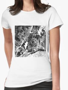 New York  map 1 Womens Fitted T-Shirt