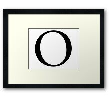 O, Alphabet Letter, Oscar, Ocean, A to Z, 15th Letter of Alphabet, Initial, Name, Letters, Tag, Nick Name Framed Print