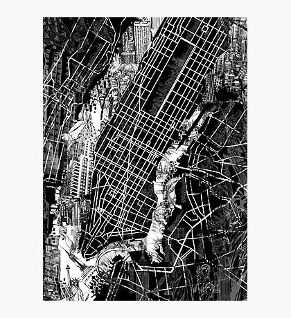 New York  map 3 Photographic Print
