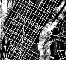 New York  map 3 Sticker