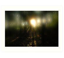 Through the misty fog Art Print