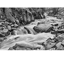 Cascading Colorado Rocky Mountain Stream BW Photographic Print