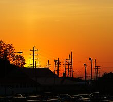 Sunset at the races by Jim Butera