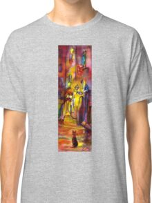 Medieval alley by night in Florence Classic T-Shirt