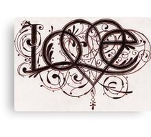 Love - Typography Design Canvas Print